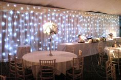 Beautiful backdrop, love the lights! Helps to add some warmth into the room :)