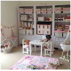 Little girls playroom , maileg, classic, vintage, pink and white room