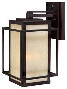 """Vaxcel RB-OWU090EB Robie 9-1/2"""" Outdoor Wall Light Espresso Bronze transitional-outdoor-lighting"""