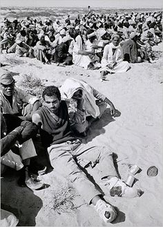 Egyptian soldiers captured by the Israelis, Suez Canal, 1967.  Photo: Cornell Capa/Magnum Photos, courtesy of the International Center of Photography