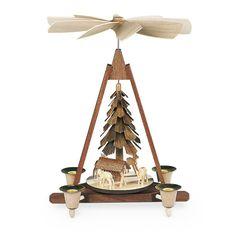 Mueller - Pyramid Deer, Hand-carved - Wooden Duck Shop