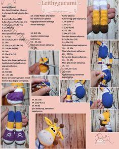 Yellow giraffe recipe with amigurumi knitted maci key - Knitting Women Crochet Amigurumi Free Patterns, Crochet Doll Pattern, Crochet Bunny, Afghan Crochet Patterns, Crochet Animals, Crochet Dolls, Cat Pattern, Crochet Disney, Cat Amigurumi