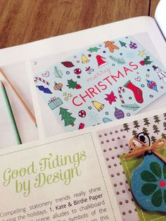 Happy Cactus Designs Christmas Card in the Fall 2013 Issue of Stationery Trends Magazine