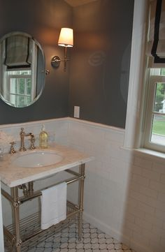 Benjamin Moore Amherst Gray.. Rich color mixed with the white.