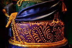 Peacock Wedding Cake.  Bright, Fun Colors.