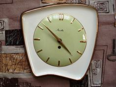 1950's Manthe ceramic clock. Learn about your collectibles, antiques, valuables, and vintage items from licensed appraisers, auctioneers, and experts. http://www.bluevaultsecure.com/roadshow-events.php
