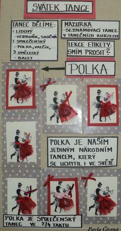 Svátek tance (Pastelkový svátek - 25. 1. 2018) - Český tanec - POLKA Czech Republic, Teaching, Holiday Decor, Historia, Projects, Education, Learning, Tutorials