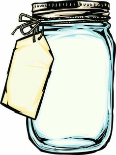 I used this to make my own pages for a recipe binder ji. Image of Mason Jar Clip Art Free Mason Jars, Mason Jar Cards, Mason Jar Flowers, Mason Jar Clip Art, Jar Art, Jar Crafts, Diy And Crafts, Anniversaire Harry Potter, Clipart Black And White