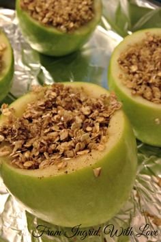Baked Apples: These rich,Whole 30-approved baked apples are filled with oats, spices, and more apple.