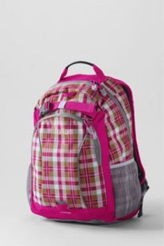 Girls' Plaid ClassMate® Medium Backpack from Lands' End