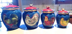 1000 Images About Rooster Canisters On Pinterest