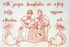 """""""Nem most jöttem le a falvédőről"""" – Egy kis nosztalgia Hatvanban Embroidery Neck Designs, Comics, Alsace, Vintage, Hungary, Punch, Art, Dashboards, Red"""