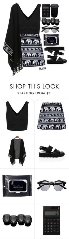 """""""#SheIn"""" by credentovideos ❤ liked on Polyvore featuring San Crispino, e.l.f., Retrò, Eichholtz, Muji and adidas"""