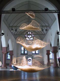 MariaLuisa Tadei installation sculpture ceiling hanging