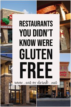 Restaurants with gluten free menus or great gluten free opens. An easy list focusing on chain restaurants with gluten free food. Informations About Chain Restaurants You Didn't Know Were Gluten Free Gluten Free Fast Food, Gluten Free Buns, Gluten Free Living, Gluten Free Pasta, Foods With Gluten, Gluten Free Cooking, Lactose Free, Gluten Free Aldi, Eating Gluten Free
