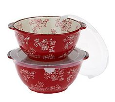 Temp-tations Floral Lace Set of 2 Mixing Bowls. Got these in black floral lace.