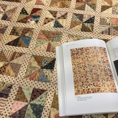 """""""My sewing group's 2015 challenge--I chose to try and recreate this antique pinwheel quilt in Sandi Fox's book, """"Small Endearments."""""""""""