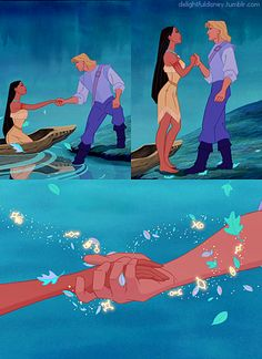 Pocahontas and John Smith Princess Pocahontas, Disney Pocahontas, Disney Couples, Disney Pixar, Walt Disney, Disney Princess, Disney Characters, Princess Celestia, Pocahontas And John Smith