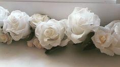 Garland Wedding GARLANDE decorations crepe paper by moniaflowers