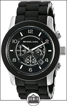 Michael Kors Mk8107 - Reloj de caballero de cuarzo, correa de acero inoxidable color negro de  ✿ Relojes para hombre - (Gama media/alta) ✿