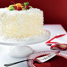 Our 50 Best Christmas Cakes  | Ambrosia Coconut Cake  | MyRecipes.com