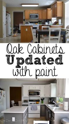 diy kitchen cabinets 47 Ideas Painting Kitchen Cabinets Diy Before And After Benjamin Moore Kitchen Cabinets Painted Before And After, Painting Kitchen Cabinets White, Painting Oak Cabinets, Old Kitchen Cabinets, Diy Cabinets, Kitchen Paint, Kitchen Redo, Refinish Cabinets, Filing Cabinets