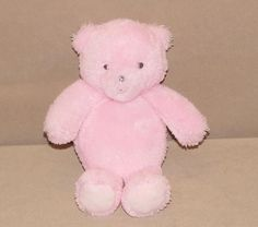"""Carters Precious Firsts Pink Gray Teddy Bear Plush Stuffed Baby 8"""" Toy 63209 #Carters"""