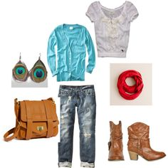 comfy turquoise and red