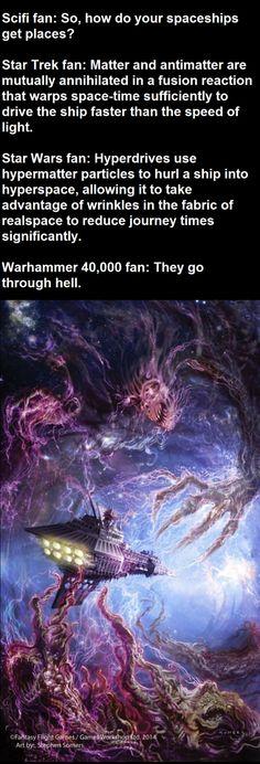 """They go through hell"". #40K"