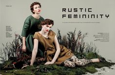 rustic femininity: iulia cirstea and anka kuryndina by filippo del vita for the south china morning post style.