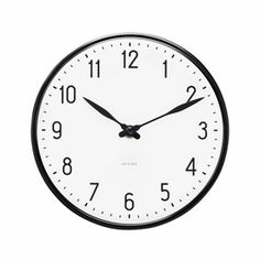 Arne Jacobsen Station Wall Clock - Four Sizes - Click to enlarge