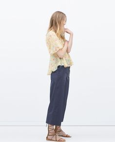 Image 1 of SEAMED PRINTED BLOUSE from Zara