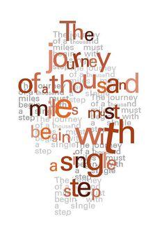 Inspirational art  Zen quote  typographic print by LouiseArtStudio