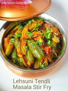 How to make Tindora Sabzi, Ivy Gourd Stir Fry, Tendli Stir Fry, Lehsuni Sukhi Tendli Sabzi, Sukhi Tendli Bhaji  Sharing step by ...