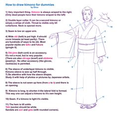 How to draw kimono for dummies by ~Elruu on deviantART
