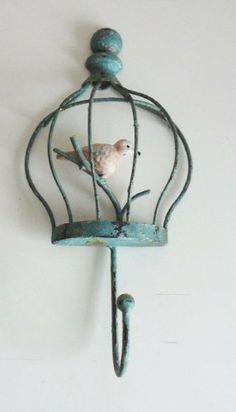 Shabby Vintage Chic Blue Bird Cage Single Hook , http://www.amazon.co.uk/dp/B00D0TJTX2/ref=cm_sw_r_pi_dp_nBXftb0BEN731