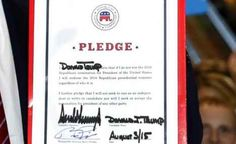 Godfather Politics blog: WILL THE RNC SIGN A PLEDGE TO SUPPORT TRUMP IF HE'S THE NOMINEE? Hahaha - I love it!!! ;-)