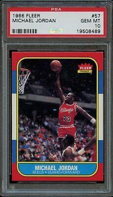 PSA 10 MICHAEL JORDAN 1986 FLEER #57 ROOKIE RC PWCC-HE HIGH END BASKETBALL CARD    eBay