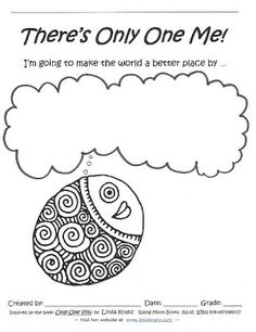 Only one you website. I've got the book, now I have a writing activity to use with it. Great activities to encourage positive self esteem in young learners.