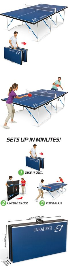 Tables 97075: Ping Pong Table Tennis Folding Tournament Size Indoor Outdoor  Sport Portable  U003e BUY IT NOW ONLY: $128 On EBay!