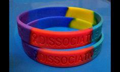 Dissociative Identity Disorder wristbands for awarenress now on sale! #dissociativeidentitydisorder #didmpd