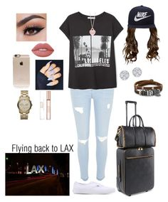 """""""Flying back to LAX ✈️"""" by tiffany-london-1 ❤ liked on Polyvore featuring River Island, MANGO, Vans, NIKE, Lime Crime, STELLA McCARTNEY, Incase, Tiffany & Co., BillyTheTree and MICHAEL Michael Kors"""