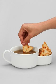 Soup Crackers Bowl (I would use for queso and chips, obv.)