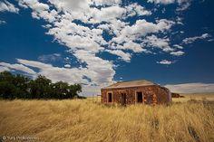 Australia  Landscape. Stone Cottage. Open paddock