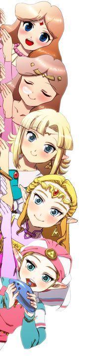 Princesas Zelda por Chichi Band. https://s-media-cache-ak0.pinimg.com/originals/35/af/2a/35af2a24f2b79bc5d73b2295b01cce35.jpg?utm_content=buffer43a8c&utm_medium=social&utm_source=pinterest.com&utm_campaign=buffer  #LegendOfZelda #Nintendo #Fanart