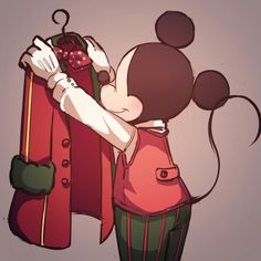 Mickey must be hanging up his coat for the day