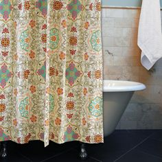 Complete your look with our entire Esprit collection! Exotic and whimsical with motifs inspired by modern art, the Esprit Shower Curtain provides a perfect accent to a bohemian lifestyle Available in