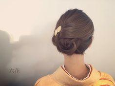 六花でヘアメイク着付け ミディアム Bun Hairstyles, Wedding Hairstyles, Up Styles, Hair Styles, Hair Arrange, Hair Reference, Japanese Outfits, Japanese Kimono, Hair Dos