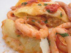 Appunti di cucina di Rimmel: Ravioli al cuoccio con calamari e pomodorini al fo...