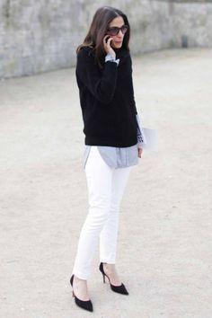 Outfit 2016: 6 look per febbraio! PANTALONI BIANCHI + CAMICIA LUNGA